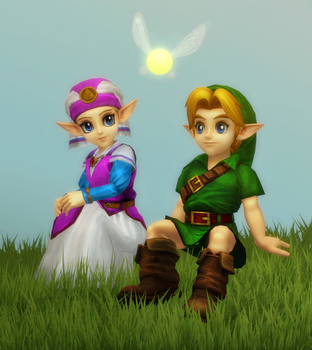 Link and Zelda by Lopieloo