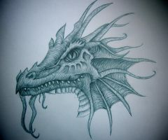 Dragon Doodle by Wildflower789