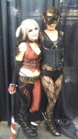 Harl and Steampunk Catwoman by MaiseDesigns