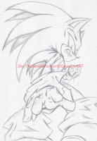 DarkSonic Anger-sketch by Fly-Sky-High