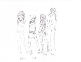 The Gang by LilMissBlueJay