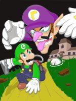 Luigi vs Waluigi by WildGirl91