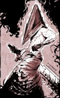 Pyramid Head. Silent Hill 2 fanart by RedBast