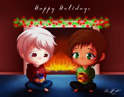PruEsp - Happy Holidays 2012 by Orochimaru666