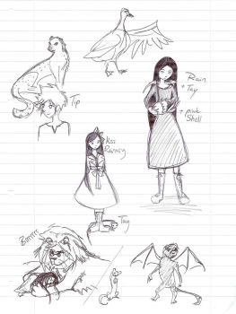 Out of Oz sketches by Mibicci