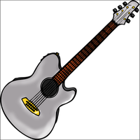 Guitar Line art by fabjoueur