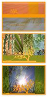 organic postcards by hippiedesigner