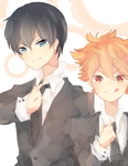 kagehina suits by Mei-mi