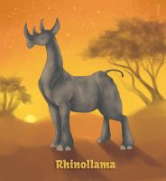 Daily Llama Project - Rhinollama by TrollGirl