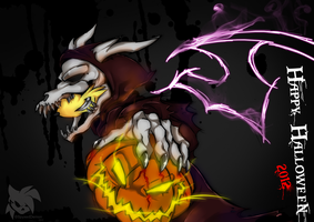 Halloween 2012: Pumpkin Glare by SpyxedDemon