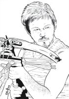 Daryl Dixon commission by paulabstruse