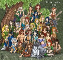 River Twine Holt- whole tribe by Eregyrn