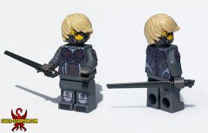 Metal Gear Rising: Revengeance Raiden LEGO Minifig by Saber-Scorpion