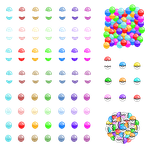 Pixel Toy Capsules and Pokeballs by MikariStar