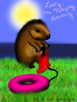 Larry the Pumping Lemming by soffl