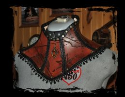 steampunk leather collar by Lagueuse