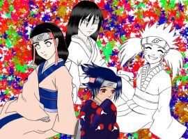Girls?? Of Naruto color? by ProjectGaea