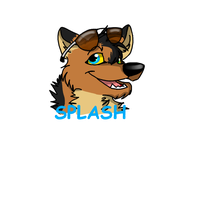 *Commision*Splash badge by Obsidianthewolf