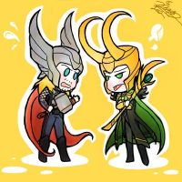 Thor and Loki by Ccamang
