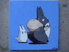 My Neighbor Totoro mini totoro by Smallwhitecat