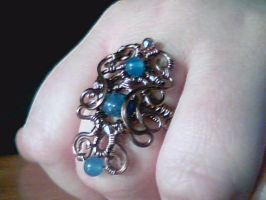 Under the Waves - Adjustable ring by Carmabal