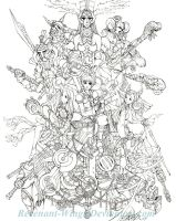 FFTactics :lineart: by Revenant-Wings