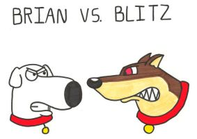 Brian vs. Blitz by BrianGriffinFan