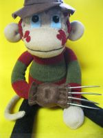 Freddy Krueger Sock Monkey by REBELalaMODE
