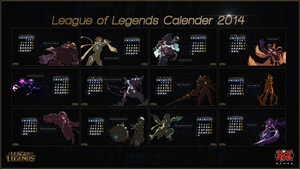League of Legends Calender 2014 - Cover (Complete) by CreateMyIntro