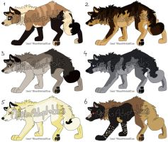 Wolf Auctions CLOSED by MikasAdoptables