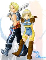 Vaan and Penelo by J-e-J-e