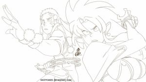 Tenchi battle WIP by Gazzycakes