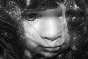 Black and White - Doll by AmieLouisePhotograph
