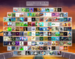 Gotta Draw 'em All: Generation 5 Collaboration by Krisantyne