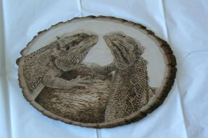 Bearded Dragon Woodburning 01 by MontanaJohnsons