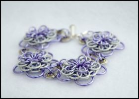 Dahlia Bike Part Chain Maille Bracelet 1 by FeMailleTurtle