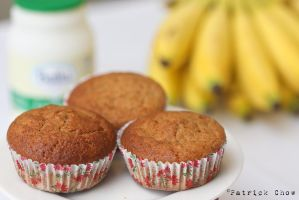 Banana cupcakes 2 by patchow