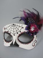 Deluxe Plum Day of the Dead mask by maskedzone