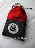 Pirate Kitten Drawstring Bag by tinkelstein