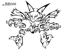 #065: Tribal Alakazam by blackbutterfly006
