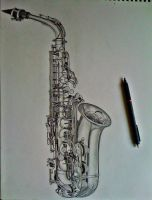 Saxophone by LaceyAndTheLevee