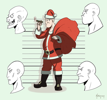Bad guys and Bad Santa | Day 17 by Netierrez