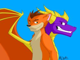 Crash and Spyro being themselves by Racesolar