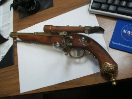 Steampunk Flintlock Pistol by Frijoleluna