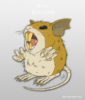 #020 Raticate by Hnser