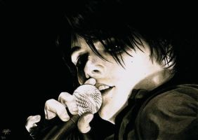 GERARD WAY - portrait drawing - V by Shinkan-Seto