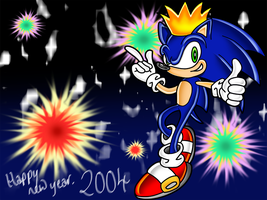 2004 Sonic New Year by TheStiv