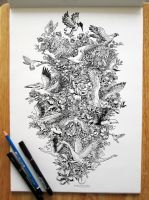 BLOOMING FLIGHT by kerbyrosanes