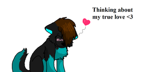 Thinking about my true love by iW-O-L-F