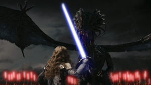 Jedi master Alice fight the Jabberwockey by GronHatchat